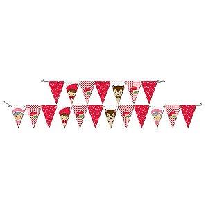 Faixa Decorativa Festa Chapeuzinho Vermelho  - Festcolor - Rizzo Festas