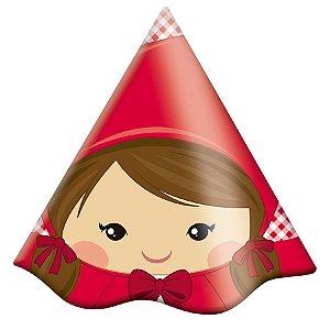 Chapéu Festa Chapeuzinho Vermelho - 8 unidades - Festcolor - Rizzo Festas