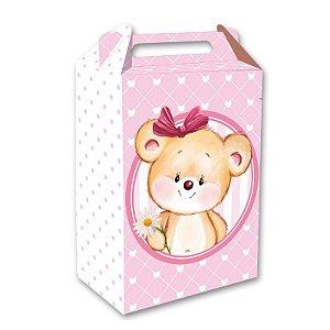 Caixa Surpresa Festa Ursinha Rosa - 08 unidades - Festcolor - Rizzo Embalagens