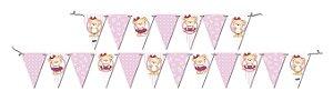 Faixa Decorativa Festa Ursinha Rosa - 01 unidade - Festcolor - Rizzo Festas