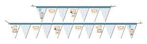 Faixa Decorativa Festa Ursinho Azul - 01 unidade - Festcolor - Rizzo Festas