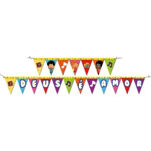 Faixa Decorativa Festa 3 Palavrinhas - 01 unidade - Festcolor - Rizzo Festas
