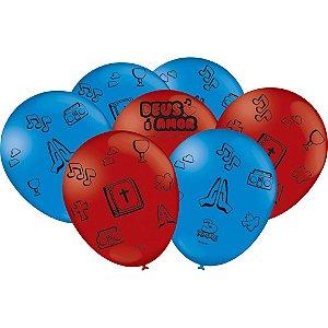 Balão Festa 3 Palavrinhas - 25 unidades - Festcolor - Rizzo Festas