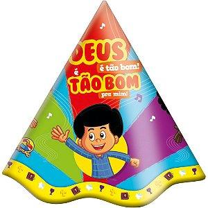 Chapéu Festa 3 Palavrinhas - 08 unidades - Festcolor - Rizzo Festas