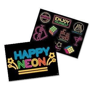 Kit Decorativo Festa Festa Neon - Festcolor - Rizzo Festas
