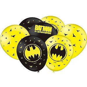 Balão Festa Batman - 25 unidades - Festcolor - Rizzo Festas