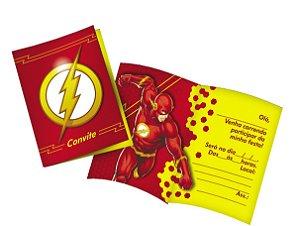 Convite Festa Flash - 8 unidades - Festcolor - Rizzo Festas