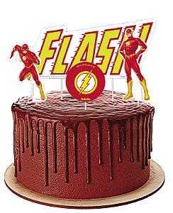 Topper para Bolo Festa Flash - 04 unidades - Festcolor - Rizzo Festas