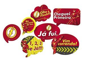 Kit Plaquinhas Divertidas Festa Flash - 09 unidades - Festcolor - Rizzo Festas