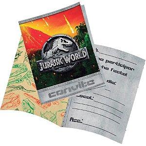 Convite Festa Jurassic World - 8 unidades - Festcolor - Rizzo Festas
