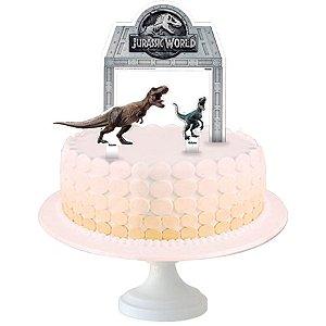 Topper para Bolo Festa Jurassic World - 04 unidades - Festcolor - Rizzo Festas