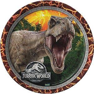 Prato Festa Jurassic World 18cm - 08 unidades - Festcolor - Rizzo Festas