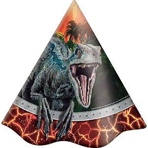 Chapéu Festa Jurassic World - 08 Unidades - Festcolor - Rizzo Embalagens