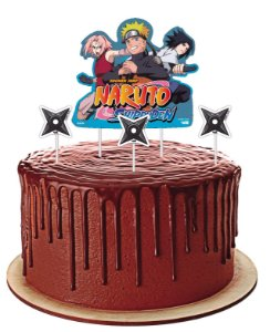 Topper para Bolo Festa Naruto - 04 unidades - Festcolor - Rizzo Festas