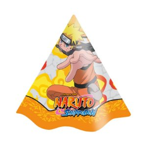 Chapéu Festa Naruto - 08 Unidades - Festcolor - Rizzo Embalagens