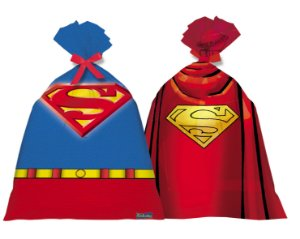 Sacolinha Surpresa Festa Superman - 08 unidades - Festcolor - Rizzo Festas