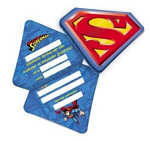 Convite Festa Superman - 8 unidades - Festcolor - Rizzo Festas
