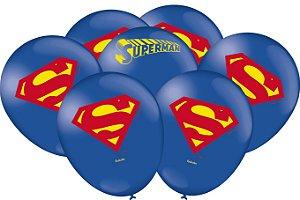 Balão Festa Superman - 25 unidades - Festcolor - Rizzo Festas