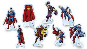 Decoração de Mesa Festa Superman - 8 unidades - Festcolor - Rizzo Festas