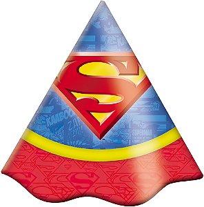 Chapéu Festa Superman - 08 Unidades - Festcolor - Rizzo Embalagens