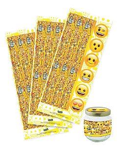 Adesivo para Lembrancinhas Festa Emoji- 36 unidades - Festcolor - Rizzo Embalagens e Festas