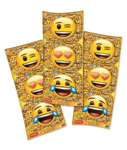 Adesivo Retangular Festa Emoji - 12 unidades - Festcolor - Rizzo Festas