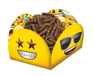 Porta Forminha para Doces Festa Emoji - 40 unidades - Festcolor - Rizzo Festas