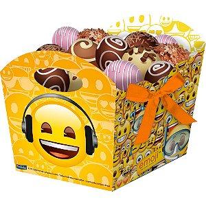 Cachepot Festa Emoji- 8 unidades - Festcolor - Rizzo Festas
