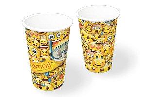 Copo de Papel 200ml Festa Emoji- 08 unidades - Festcolor - Rizzo Festas