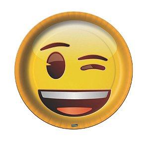 Prato Festa Emoji 18Cm - 8 unidades - Festcolor - Rizzo Festas
