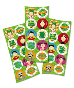 Adesivo Redondo para Lembrancinha Festa Chaves- 30 unidades - Festcolor - Rizzo Embalagens e Festas