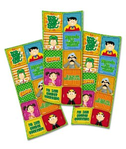 Adesivo Quadrado Decorativo Festa Festa Chaves - 30 unidades - Festcolor - Rizzo Festas