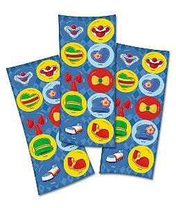Adesivo Redondo para Lembrancinha Festa Parque Patati Patatá - 30 unidades - Festcolor - Rizzo Embalagens e Festas