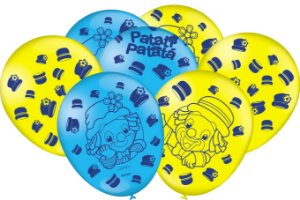 Balão Festa Parque Patati Patatá - 25 unidades - Festcolor Festas - Rizzo Embalagens