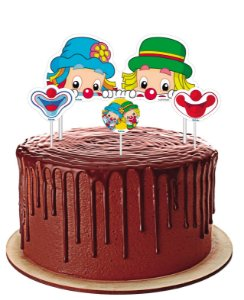 Topo de bolo Festa Parque Patati Patata - 04 unidades - Festcolor - Rizzo Festas?