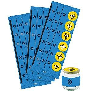 Adesivo para Lembrancinhas Festa Minions - 36 unidades - Festcolor - Rizzo Embalagens e Festas