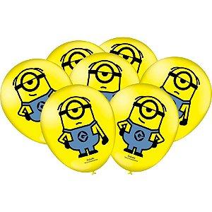 Balão Festa MInions - 25 unidades - Festcolor Festas - Rizzo Embalagens