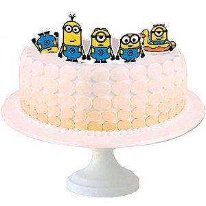 Topo de bolo Festa Minions - 04 unidades - Festcolor - Rizzo Festas?