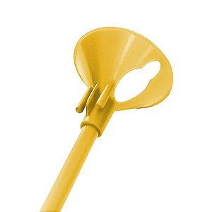 Kit Suporte para Balão 33cm - Amarelo - 10 Unidades - Rizzo Embalagens