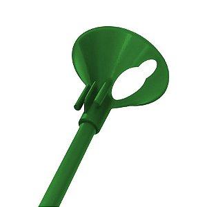 Kit Suporte para Balão 33cm - Verde Escuro - 10 Unidades - Rizzo Embalagens