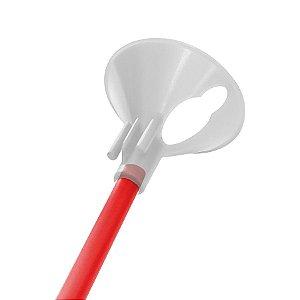 Kit Suporte para Balão 33cm - Vermelho - 10 Unidades - Rizzo Embalagens