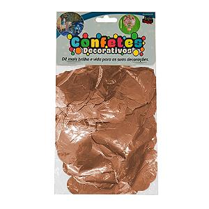 Confete Coração Metalizado 25g - Rose Gold Dupla Face - Rizzo Embalagens