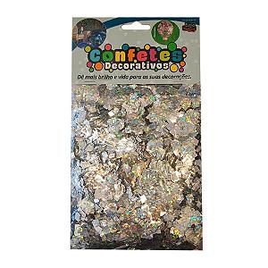 Confete Mini Picadinho Metalizado 25g - Holografico Dupla Face - Rizzo Embalagens
