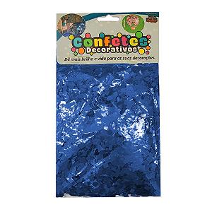 Confete Mini Picadinho Metalizado 25g - Azul Royal Dupla Face - Rizzo Embalagens