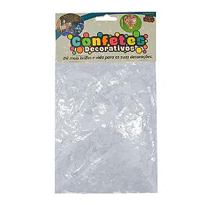 Confete Mini Picadinho 25g - Branco Perolado Dupla Face - Rizzo Embalagens