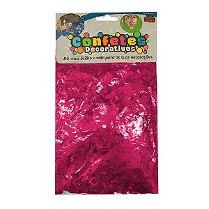 Confete Mini Picadinho Metalizado 25g - Pink Dupla Face - Rizzo Embalagens