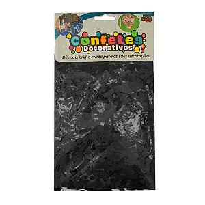 Confete Mini Picadinho 25g - Preto Dupla Face - Rizzo Embalagens