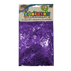 Confete Mini Picadinho Metalizado 25g - Roxo Dupla Face - Rizzo Embalagens