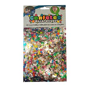 Confete Mini Picadinho Metalizado 25g - Sortido Dupla Face - Rizzo Embalagens