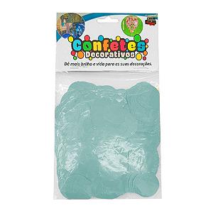 Confete Redondo 25g - Azul Claro Dupla Face - Rizzo Embalagens